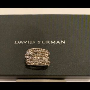 David Yurman Double X Crossover Ring w/Diamonds